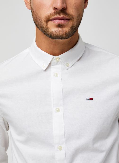 Vêtements Tommy Jeans TJM Slim Stretch Oxford Shirt Blanc vue face