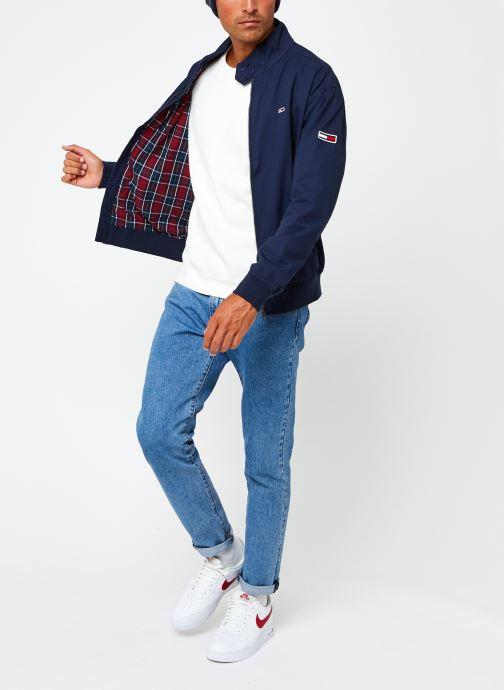 Vêtements Tommy Jeans TJM Cuffed Cotton Jacket Bleu vue bas / vue portée sac