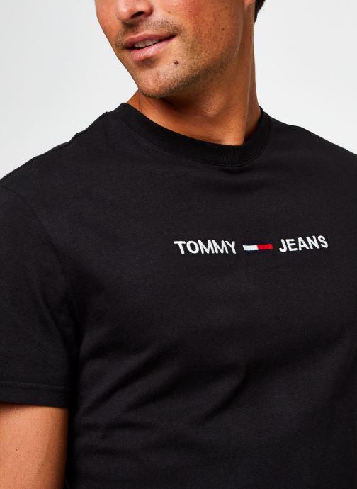 Vêtements Tommy Jeans TJM Straight Logo Tee Noir vue face