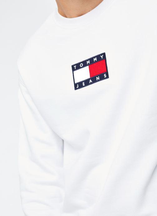 Vêtements Tommy Jeans TJM Small Flag Crew Blanc vue face