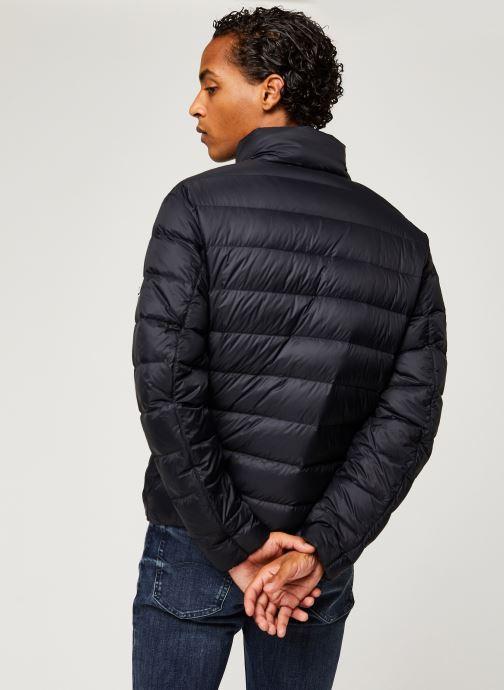 Vêtements Tommy Jeans TJM Packable Light Down Jacket Noir vue portées chaussures
