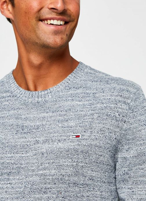 Vêtements Tommy Jeans TJM Essential Texture Sweater Gris vue face