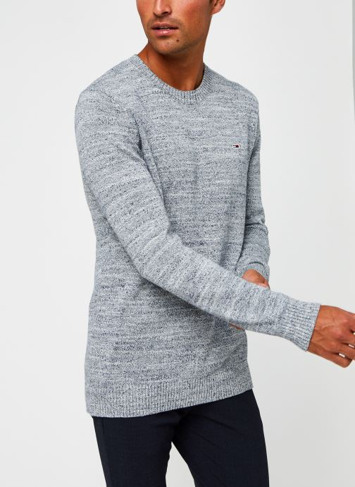 Vêtements Tommy Jeans TJM Essential Texture Sweater Gris vue droite
