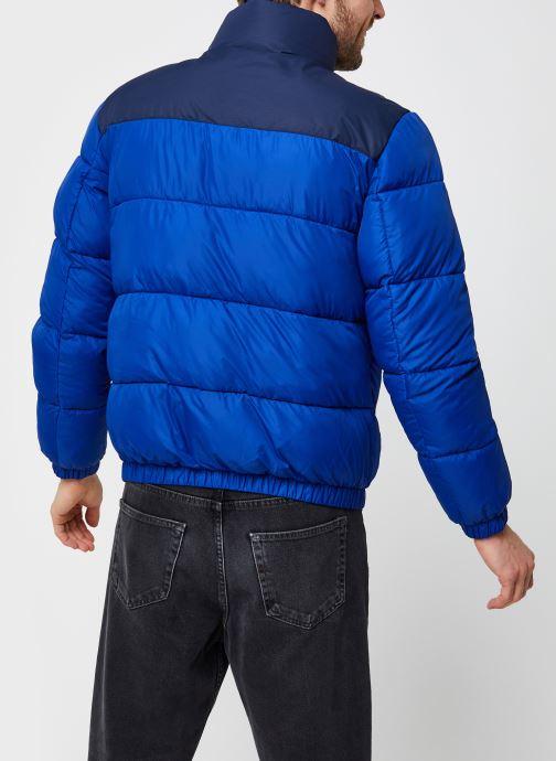 Vêtements Tommy Jeans TJM Corp Puffa Jacket Bleu vue portées chaussures