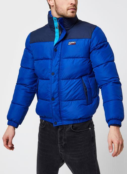 Vêtements Tommy Jeans TJM Corp Puffa Jacket Bleu vue droite