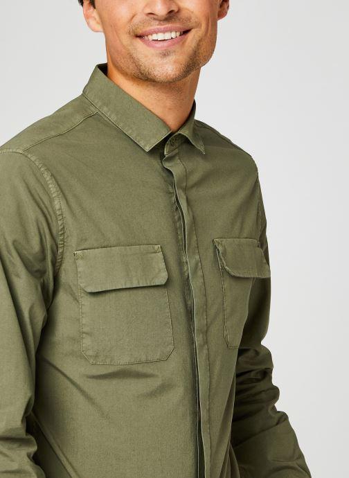 Vêtements Dockers Sustainable Utility Shirt Vert vue face