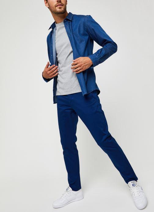 Vêtements Dockers Alpha Original Khaki - Slim Bleu vue bas / vue portée sac