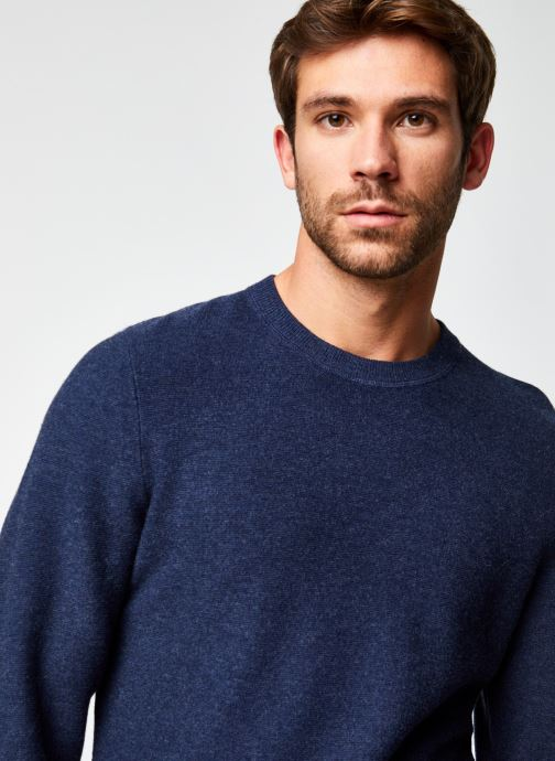 Vêtements Dockers Merino Crewneck Sweater Bleu vue face