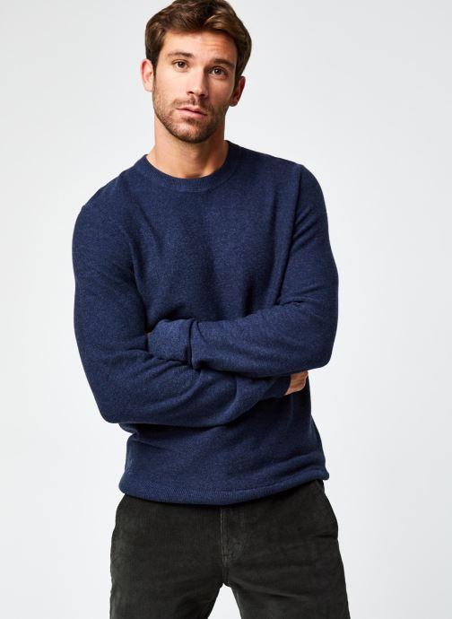 Vêtements Dockers Merino Crewneck Sweater Bleu vue droite