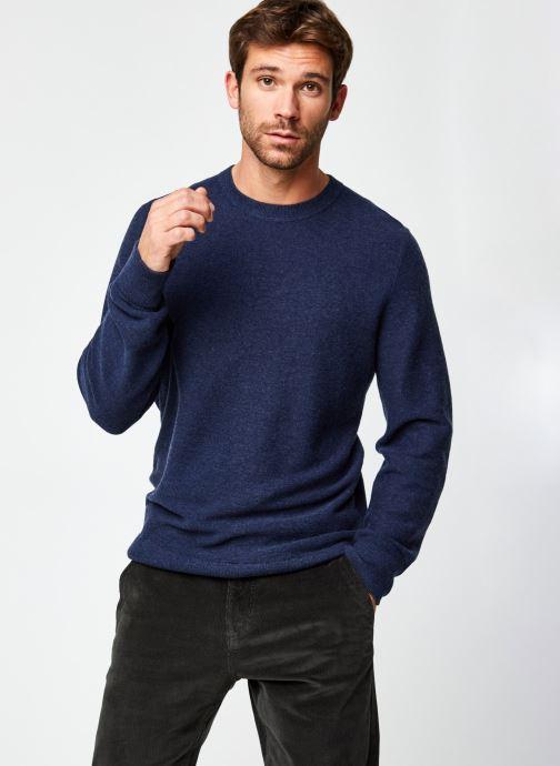 Vêtements Dockers Merino Crewneck Sweater Bleu vue détail/paire