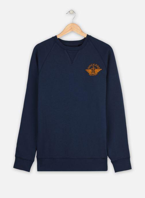 Vêtements Dockers Logo Crewneck Sweatshirt Bleu vue détail/paire
