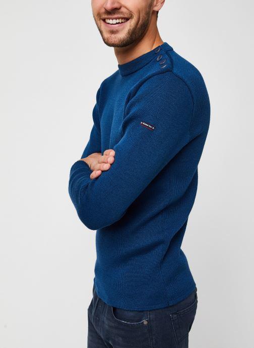 """Vêtements Armor Lux Pull marin uni """"Fouesnant"""" Homme Bleu vue droite"""