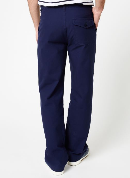 """Vêtements Armor Lux Pantalon """"Gabare"""" Héritage Homme Bleu vue portées chaussures"""