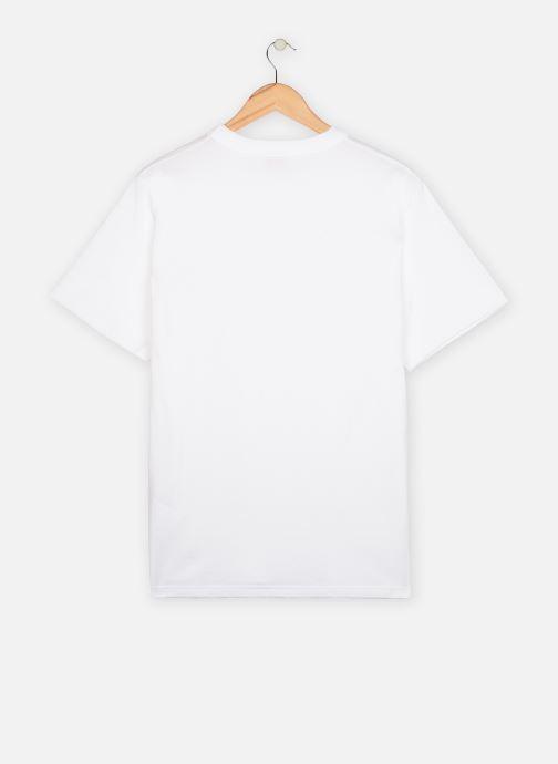 Vêtements Armor Lux T-shirt Héritage avec poche Homme Blanc vue portées chaussures