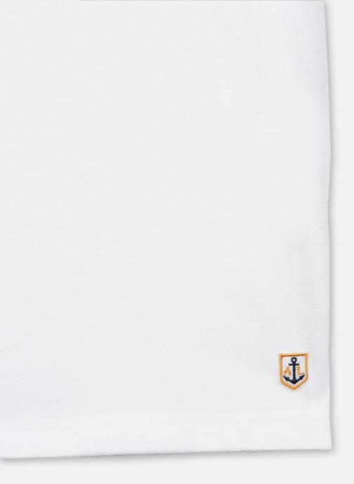 Vêtements Armor Lux T-shirt Héritage avec poche Homme Blanc vue face