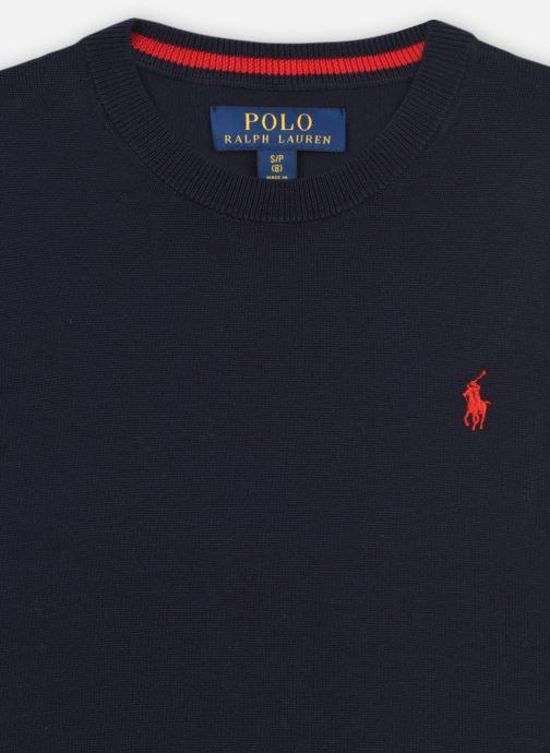Vêtements Polo Ralph Lauren LS CN-TOPS-SWEATER Bleu vue face
