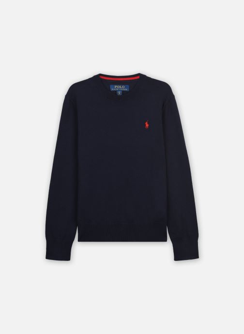 Vêtements Polo Ralph Lauren LS CN-TOPS-SWEATER Bleu vue détail/paire