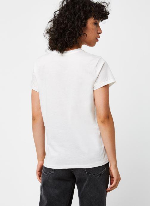 Vêtements Polo Ralph Lauren Cwby Br Rl T-Short Sleeve Blanc vue portées chaussures