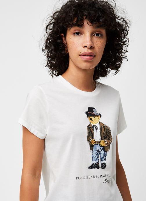 Vêtements Polo Ralph Lauren Cwby Br Rl T-Short Sleeve Blanc vue face