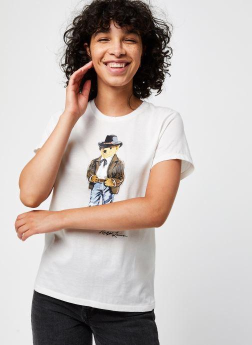 Vêtements Polo Ralph Lauren Cwby Br Rl T-Short Sleeve Blanc vue droite