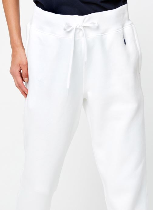 Vêtements Polo Ralph Lauren Po Sweatpant-Ankle Blanc vue face