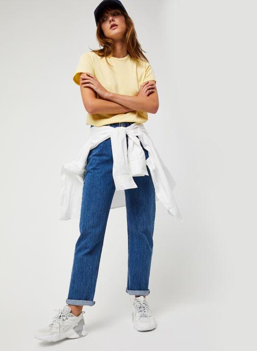 Vêtements Polo Ralph Lauren Rl Tee W Pp-Short Sleeve Jaune vue bas / vue portée sac