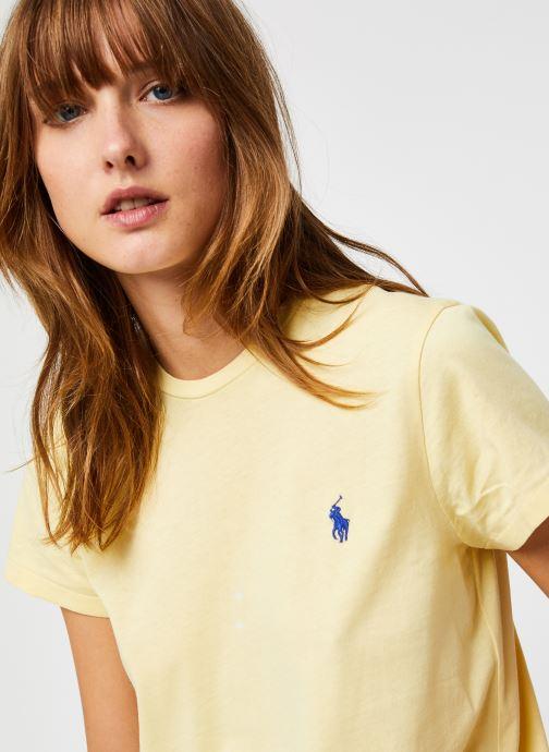 Vêtements Polo Ralph Lauren Rl Tee W Pp-Short Sleeve Jaune vue face