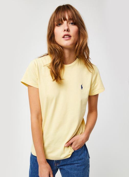 Vêtements Polo Ralph Lauren Rl Tee W Pp-Short Sleeve Jaune vue droite