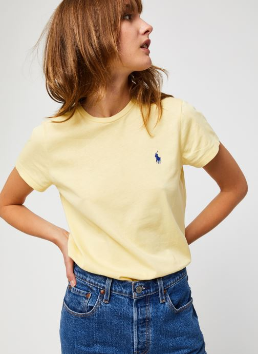 Vêtements Polo Ralph Lauren Rl Tee W Pp-Short Sleeve Jaune vue détail/paire