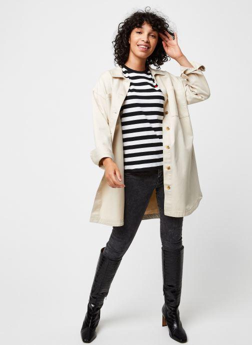 Vêtements Polo Ralph Lauren Stripe Rl T-Short Sleeve Noir vue bas / vue portée sac