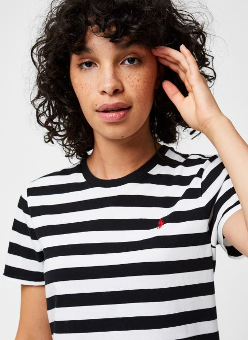 Vêtements Polo Ralph Lauren Stripe Rl T-Short Sleeve Noir vue face
