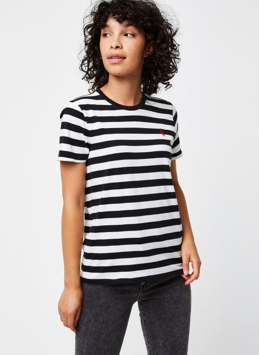 Vêtements Polo Ralph Lauren Stripe Rl T-Short Sleeve Noir vue droite