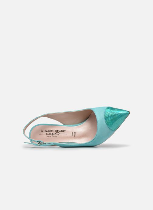 Zapatos de tacón Elizabeth Stuart RAF 624 Verde vista lateral izquierda