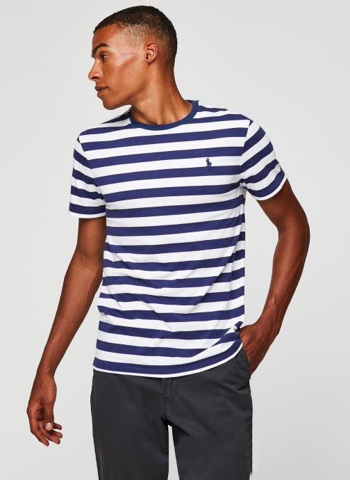 Vêtements Polo Ralph Lauren T-Shirt MC Jersey Pony Blanc vue droite