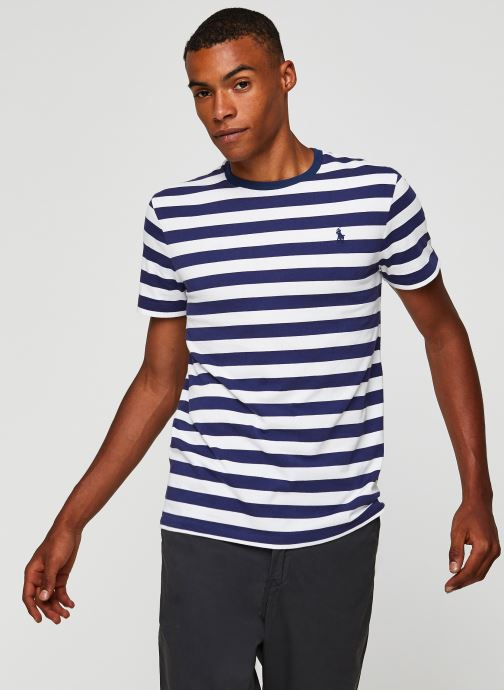 Vêtements Polo Ralph Lauren T-Shirt MC Jersey Pony Blanc vue détail/paire