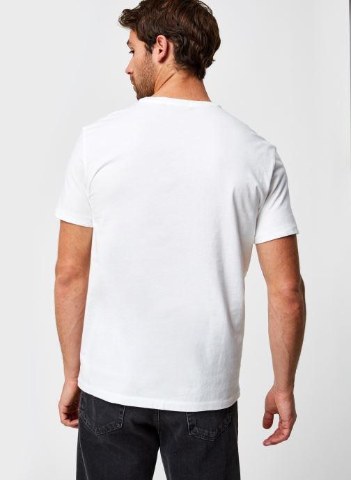 Vêtements Polo Ralph Lauren T-Shirt MC Jersey Ourson Blanc vue portées chaussures