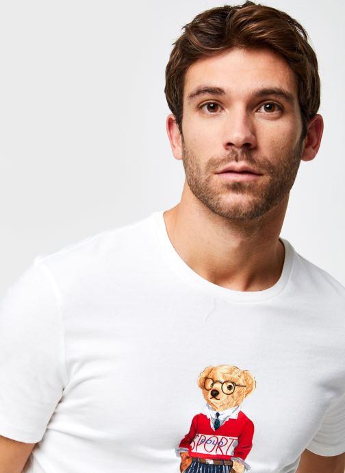 Vêtements Polo Ralph Lauren T-Shirt MC Jersey Ourson Blanc vue face