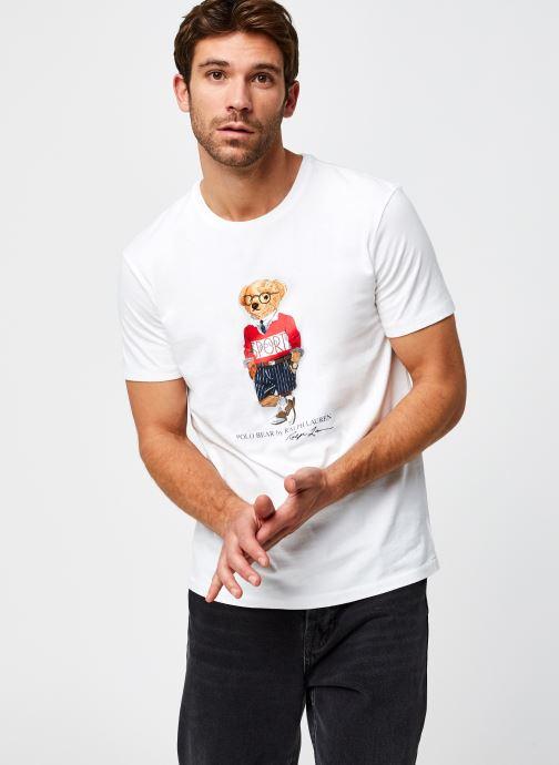 Vêtements Polo Ralph Lauren T-Shirt MC Jersey Ourson Blanc vue détail/paire