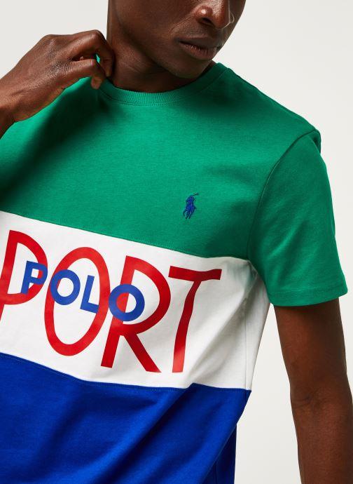 Vêtements Polo Ralph Lauren T-Shirt MC Jersey Polo Sport Pony Vert vue face