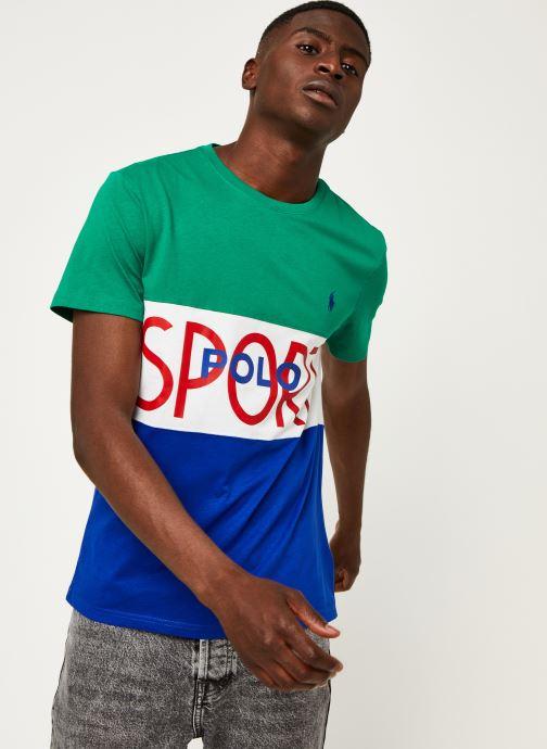 Vêtements Polo Ralph Lauren T-Shirt MC Jersey Polo Sport Pony Vert vue droite