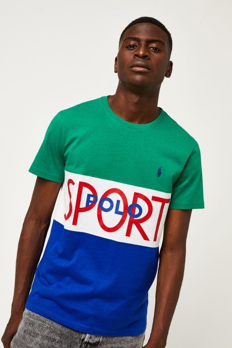 Vêtements Polo Ralph Lauren T-Shirt MC Jersey Polo Sport Pony Vert vue détail/paire