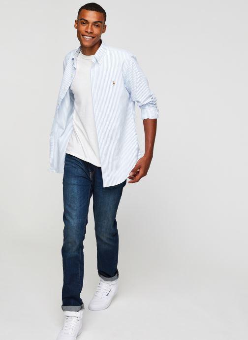 Vêtements Polo Ralph Lauren Chemise ML Oxford Sport Shirt Pony Blanc vue bas / vue portée sac