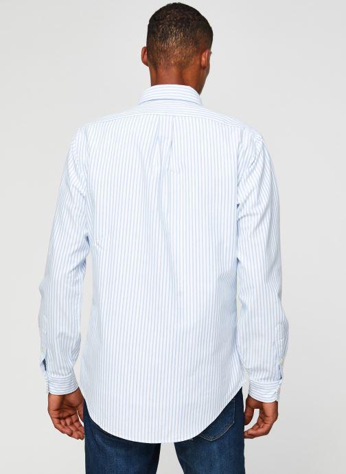 Vêtements Polo Ralph Lauren Chemise ML Oxford Sport Shirt Pony Blanc vue portées chaussures