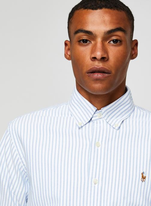 Vêtements Polo Ralph Lauren Chemise ML Oxford Sport Shirt Pony Blanc vue face