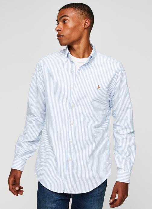 Vêtements Polo Ralph Lauren Chemise ML Oxford Sport Shirt Pony Blanc vue droite