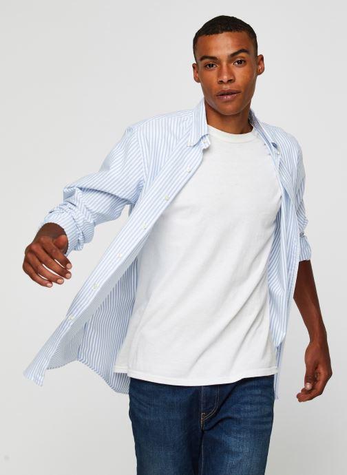Vêtements Polo Ralph Lauren Chemise ML Oxford Sport Shirt Pony Blanc vue détail/paire