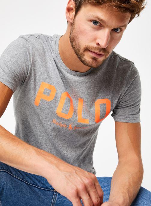 Vêtements Polo Ralph Lauren T-Shirt MC Jersey Polo Gris vue détail/paire