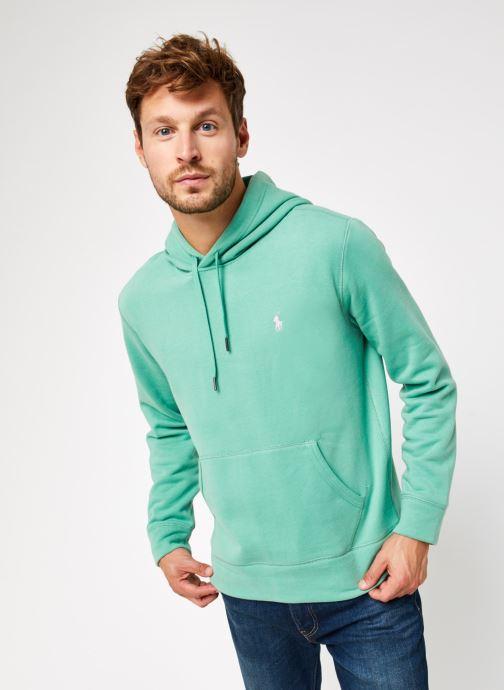 Vêtements Polo Ralph Lauren Sweatshirt Hoodie Magic Fleece Pony Vert vue droite