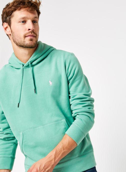 Vêtements Polo Ralph Lauren Sweatshirt Hoodie Magic Fleece Pony Vert vue détail/paire