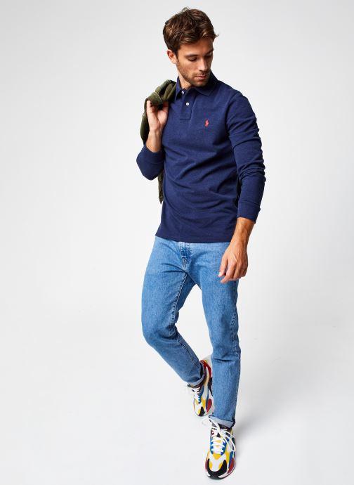 Vêtements Polo Ralph Lauren Polo ML Classic Pony Knit Bleu vue bas / vue portée sac